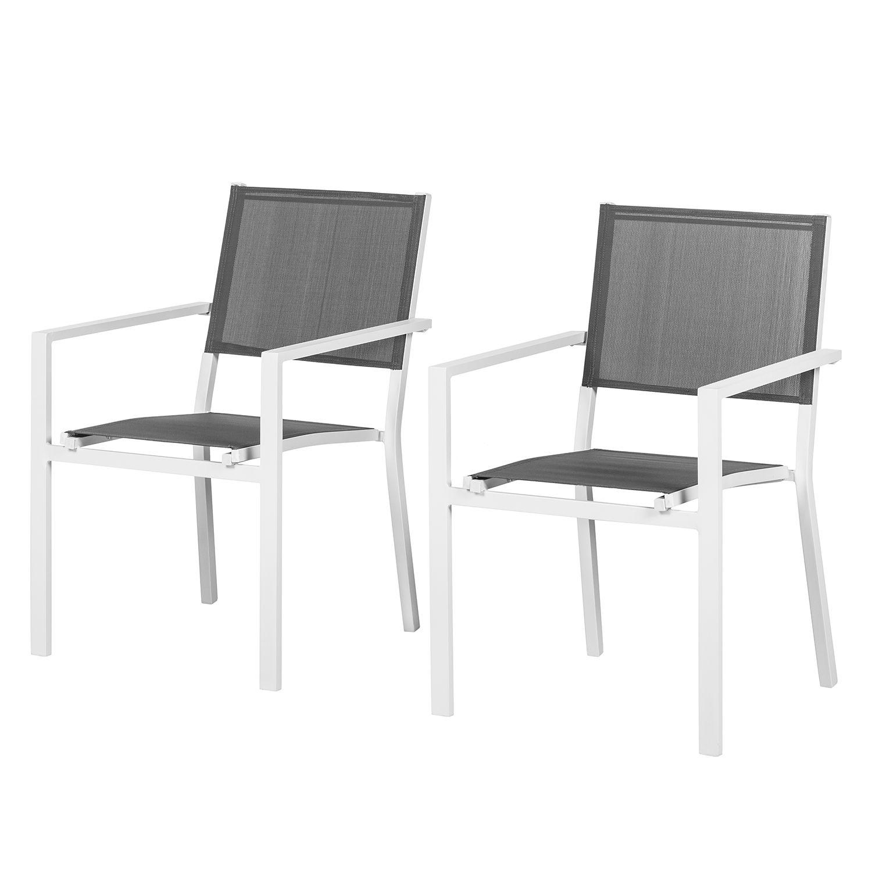 gartenstuhl linu i 2er set aluminium textil grau. Black Bedroom Furniture Sets. Home Design Ideas