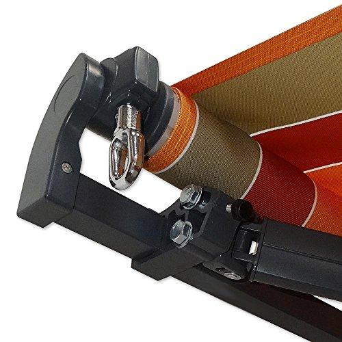 gelenkarm markise 4 x 2 5 m anthrazit profilfarbe anthrazit sonnenschutz alu markise. Black Bedroom Furniture Sets. Home Design Ideas