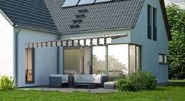 Gelenkarmmarkise Markise Sonnenmarkise Sonnenschutz 3 x 2,5 m Alu / Polyester -