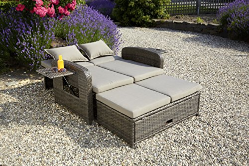 greemotion 3 in 1 rattan gartensofa bahia rondo in braun 2 sitzer lounge sofa r ckenlehne 6. Black Bedroom Furniture Sets. Home Design Ideas
