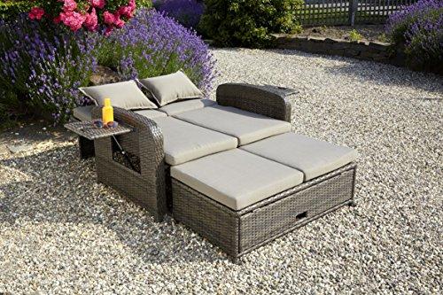 greemotion 3 in 1 rattan gartensofa bahia rondo in braun. Black Bedroom Furniture Sets. Home Design Ideas