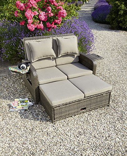 greemotion 3 in 1 rattan gartensofa bahia rondo in braun. Black Bedroom Furniture Sets. Home Design Ideas