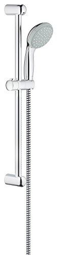 Grohe Tempesta 100, Brausestangenset 600 mm, 2 Strahlarten, feste Bohrlöcher zur Befestigung, chrom, (27598000) -