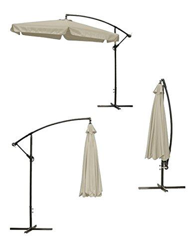 gro metall sonnenschirm mit kurbel ca 3m 300cm xxl uv schutz farbe w hlbar rund. Black Bedroom Furniture Sets. Home Design Ideas