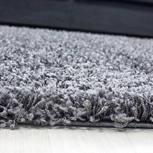 Hochflor shaggy teppich mono einfarbig wohnzimmer for Best moebel24