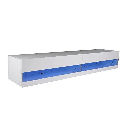 homcom tv lowboard led fernsehtisch tv board. Black Bedroom Furniture Sets. Home Design Ideas