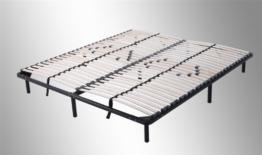 i-flair® - Lattenrost, Gästebett 160x200 cm - auf Füßen, für alle Matratzen geeignet -