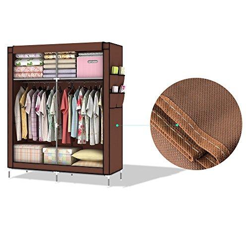 Intirilife schlie bares diy falt schrank regal system mit kleiderstangen ablagem glichkeiten - Kleiderstangen systeme ...