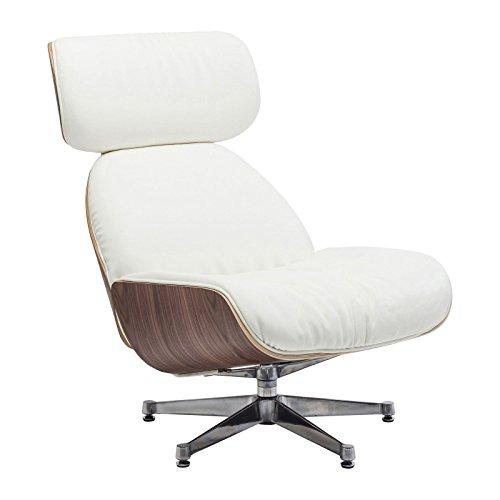 kare design drehstuhl leder wei und holz ponte uni. Black Bedroom Furniture Sets. Home Design Ideas