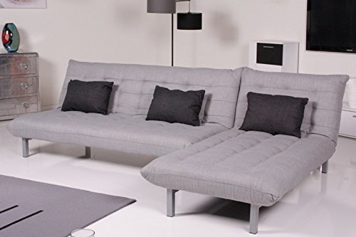 kasper wohndesign ka108446 schlafsofa stoff grau 190 x 100 x 85 cm. Black Bedroom Furniture Sets. Home Design Ideas