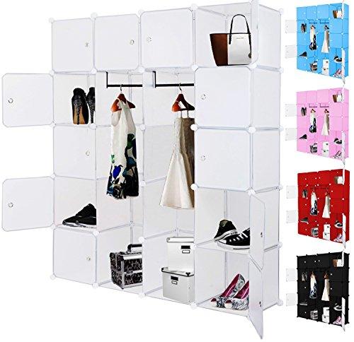 kesser diy kleiderschrank schrank steckregal schuhschrank regalsystem garderobe belastbar. Black Bedroom Furniture Sets. Home Design Ideas