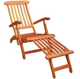 KMH®, Deckchair aus Eukalyptusholz (#101908) -