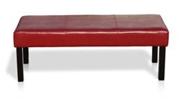 KMH®, Sitzbank mit bordeauxrotem Kunstlederbezug (#201741) -