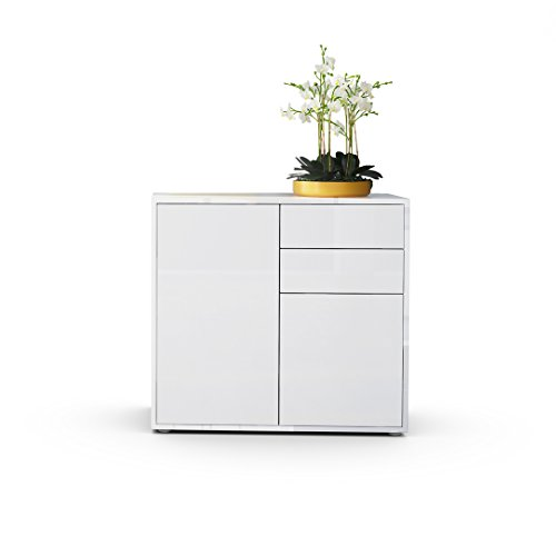 kommode sideboard ben korpus in wei hochglanz fronten in wei hochglanz. Black Bedroom Furniture Sets. Home Design Ideas