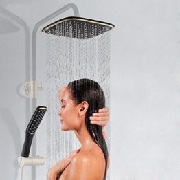 LEF 12 Zoll Luxus quadratisch Überkopfbrause Regenduschkopf Wasserfall Duschkopf mit Wasserhahn, Handbrause Dusche Duschkopf Regendusche-(Der Brausehalt ist nicht enhalten ) -