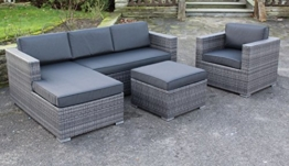 "Lesli Poly Rattan Lounge Set ""Jazz"" inkl. Sessel absolut wetterfest - variable Liegefläche -"