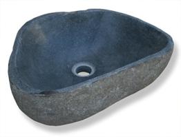 """LioLiving®, Waschbecken """"Stone"""" aus Stein / Findling gefertigt (#400122) -"""