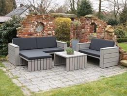 Loungemöbel Set 7 Holz, inkl. Polster - Lieferung komplett montiert -
