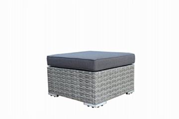 Loungeset VILETTA, Aluminium + Polyrattan hellgrau bicolor, mit regenfesten Polstern dunkelgrau -