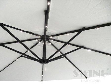 luxus sonnenschirm mit led beleuchtung ampelschirm 300. Black Bedroom Furniture Sets. Home Design Ideas