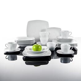 Malacasa, Serie Julia, Tafelservice 30-teilig Kombiservice Porzellan Geschirrset mit je 6 Kaffeetassen, 6 Untertassen, 6 Kuchenteller, 6 Suppenteller und 6 Flachteller Kaffeeservice für 6 Personen -