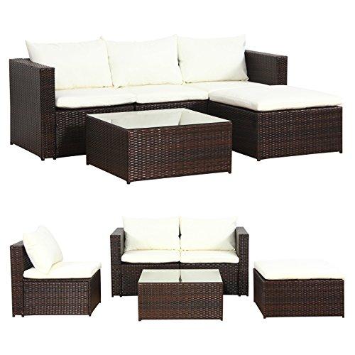 malaga poly rattan braun gartenm bel sitzgruppe essgruppe gartenset m bel24 m bel24. Black Bedroom Furniture Sets. Home Design Ideas