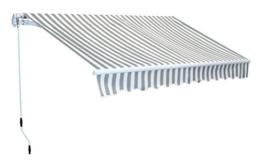 Markise Gelenkarm Gelenkarmmarkise Gelenkmarkise Sonnenschutz 300 x 250 cm Aluminium -