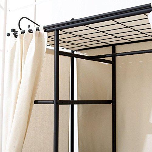 metall kleiderschrank garderobe breezy mit kleiderstange. Black Bedroom Furniture Sets. Home Design Ideas