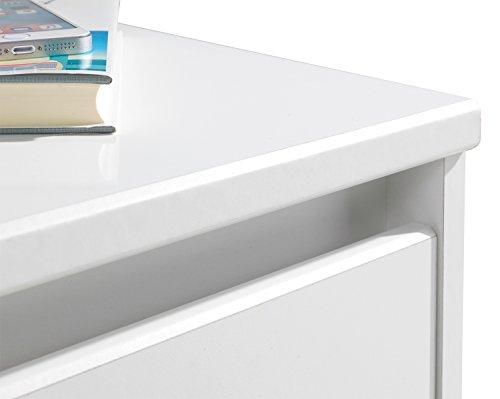 nachtkommode nachttisch nachtschrank idola 5 wei hochglanz 2 schubk sten. Black Bedroom Furniture Sets. Home Design Ideas