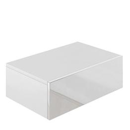 Nachttisch Kommode Nachtschrank Schublade Ablage Schrank Schlafzimmer Weiß Hochglanz -