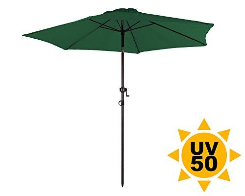 ondis24 strandschirm 2 3 meter sonnenschutz sonnenschirm 230 cm rund mit kurbel knick gelenk. Black Bedroom Furniture Sets. Home Design Ideas