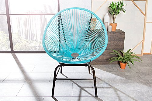 original retro acapulco chair t rkis blau mexico stuhl aus metall polyrattan outdoorstuhl f r. Black Bedroom Furniture Sets. Home Design Ideas