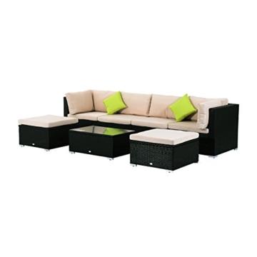 Outsunny Polyrattan Gartenmöbel 21tlg. Rattan Gartenset Sitzgruppe Loungeset Loungemöbel Gartengarnitur -