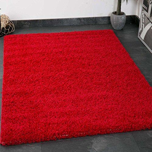 prime shaggy farbe rot teppich hochflor langflor teppiche modern f r wohnzimmer schlafzimmer. Black Bedroom Furniture Sets. Home Design Ideas