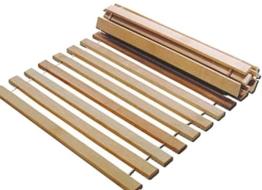 Rollrost 140x200 11 Leisten nicht verstellbar unverstellbar Fichtenholz Rolllattenrost -