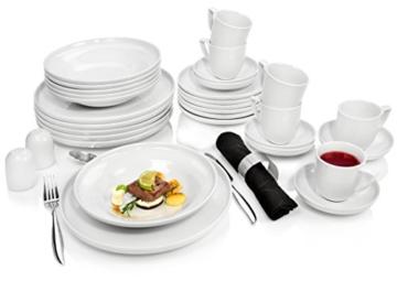 Rosenthal Kombiservice 'Bianchi' aus Porzellan für 6 Personen 30 teilig Tafelservice Essservice   Beinhaltet Teller, Tassen sowie Untertassen   Hochwertige Qualität -