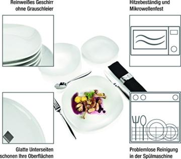 Sänger Tafelservice 'Bilgola' aus Porzellan 18 teilig | Tellerset für 6 Personen | Modernes Design für stilbewusste Genießer -