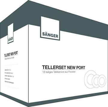 Sänger Tafelservice 'New Port' aus Porzellan 18 teilig | Für 6 Personen, im klassisch rundem Design -