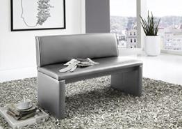 SAM® Esszimmer Sitzbank Family Hilton, in hellgrau, Sitzbank mit Rückenlehne aus Samolux®-Bezug, angenehmer Sitzkomfort, freistehende Bank, 120 cm -