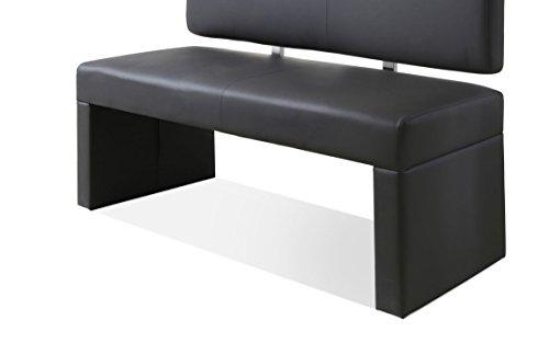 sam esszimmer sitzbank silas 125 cm in grau sitzbank mit r ckenlehne aus samolux bezug. Black Bedroom Furniture Sets. Home Design Ideas