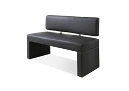 SAM® Esszimmer Sitzbank Silas, 125 cm, in grau, Sitzbank mit Rückenlehne aus Samolux®-Bezug, angenehmer Sitzkomfort, frei im Raum aufstellbare Bank -