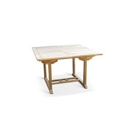 SAM® Teak-Holz Gartentisch, Balkontisch, 120 - 170 x 120 cm, massiver, ausziehbarer Holztisch, ideal für Ihren Balkon oder Garten [53262604] -