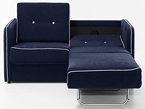 schlafsofa merina grau blau wei mikrofaser stoff sofa couch schlafcouch mit federkern. Black Bedroom Furniture Sets. Home Design Ideas
