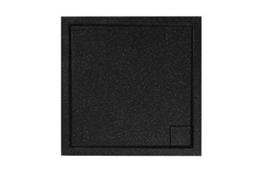 Sealskin Allure Duschtasse Aufbau 90x90 cm schwarz Duschboden Einbau Duschwanne -