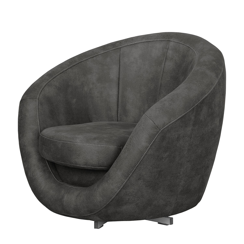 sessel marvin antiklederlook dunkelgrau loftscape m bel24. Black Bedroom Furniture Sets. Home Design Ideas