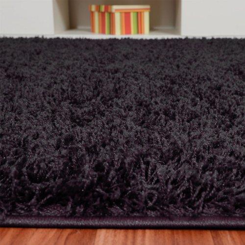shaggy hochflor teppich fluffy schwarz versandkostenfrei schadstoffgepr ft pflegeleicht. Black Bedroom Furniture Sets. Home Design Ideas