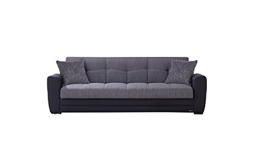 sit store sleep 200atla0303000085 m bel schlafsofa atlanta kunstleder grau 201 x 110 x 42 cm. Black Bedroom Furniture Sets. Home Design Ideas