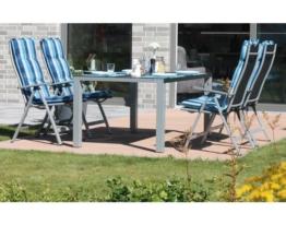 Sitzgruppe Gartenmöbel Set Gartengarnitur Alu Klappsessel Auflagen Hochlehner