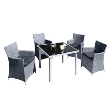 Sitzgruppe Twedt (5-teilig) - Aluminium/Glas/Textil, Garden Pleasure