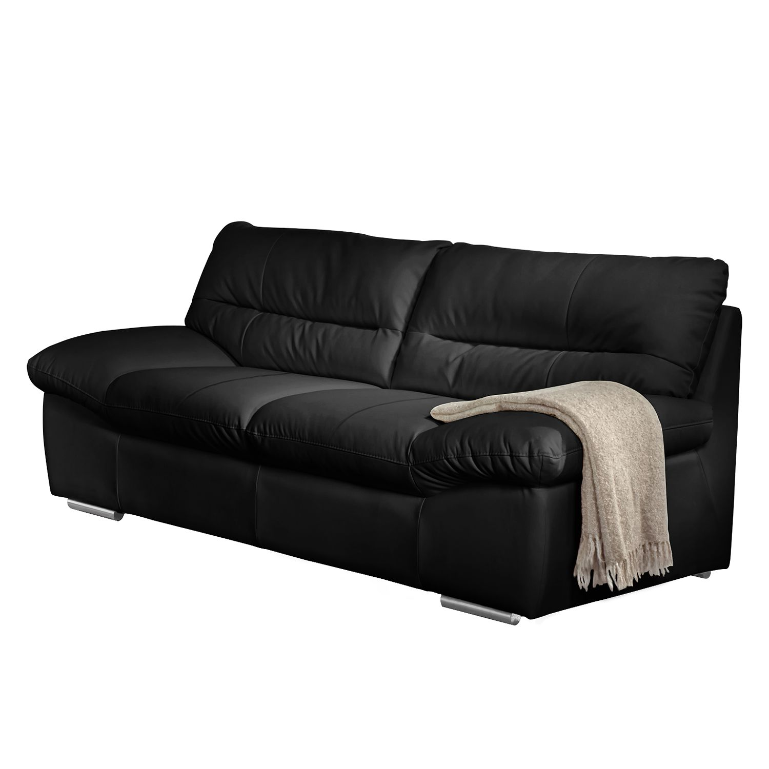 sofa doug 2 sitzer echtleder schwarz cotta. Black Bedroom Furniture Sets. Home Design Ideas